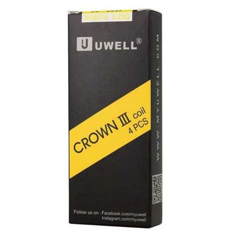 Crown 3 Replacement Coils (4 pack) by Uwell – Dominant Vapor