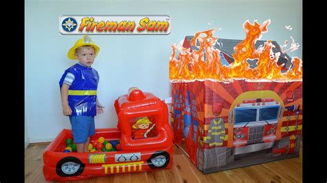 Fireman Sam HUGE Fire Rescue Fire engine Ball Pit Toys