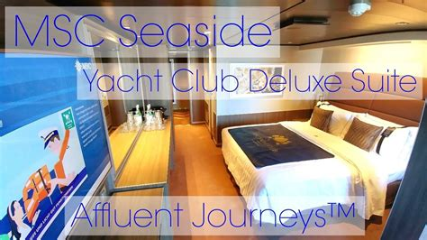 MSC Seaside Yacht Club Deluxe Suite Tour - YouTube