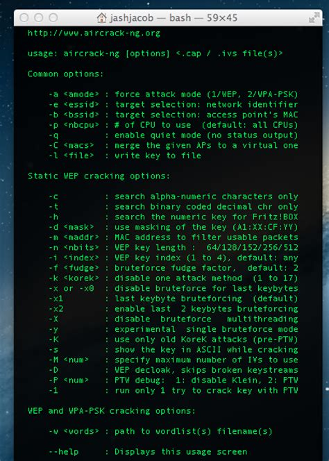 Guide to install AirCrack-ng on Mac OSX 10