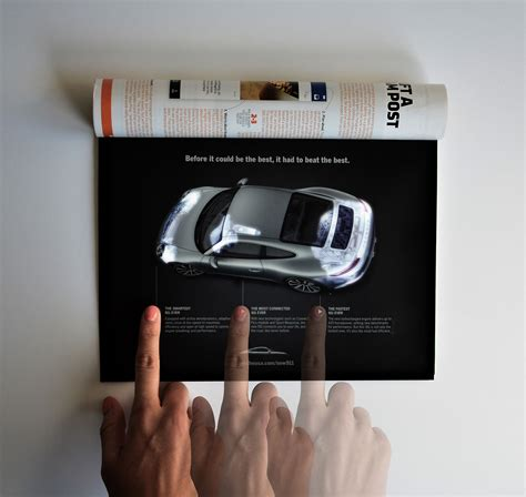 Ad of the Day: This Porsche Magazine Ad Uses LEDs to Light