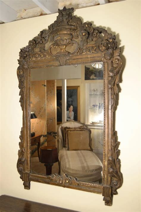 18th Century French Painted and Gilt Pier mirror