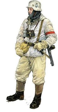 The German soldier from Stalingrad wearing a full winter