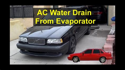 AC water drain from the evaporator out of the bottom of