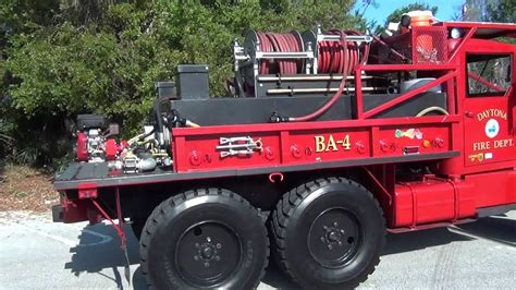 DAYTONA BEACH FIRE RESCUE BRUSH TRUCK EX ARMY TRUCK - YouTube