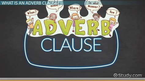Adverb Clauses: Types & Purposes - Video & Lesson