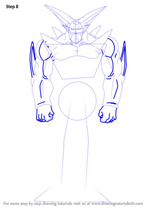 Step by Step How to Draw Omega Shenron from Dragon Ball