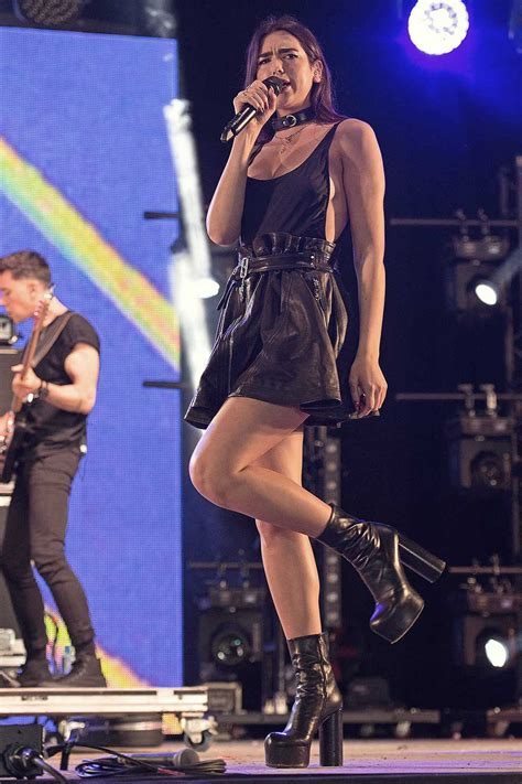 Dua Lipa performs at the Wireless Festival - Leather
