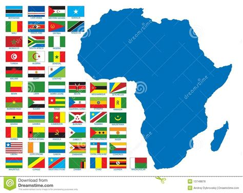 African Flags Royalty Free Stock Image - Image: 13748876