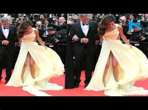 George Clooney's Wife suffers Wardrobe Malfunction at