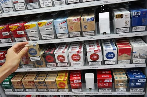 Buying Cigarettes editorial stock photo