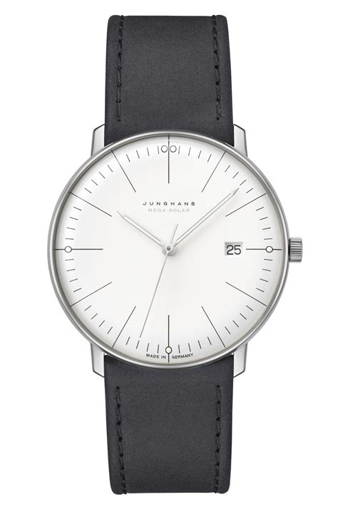Junghans makes solar-powered movement for its Max Bill