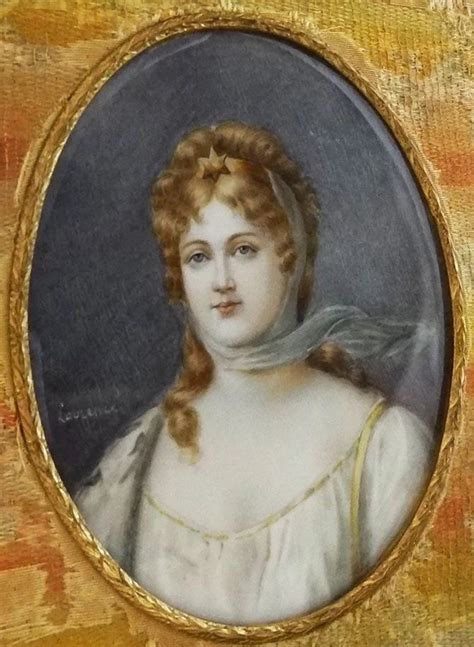 Miniature Portrait Queen Louise of Prussia signed Laurence