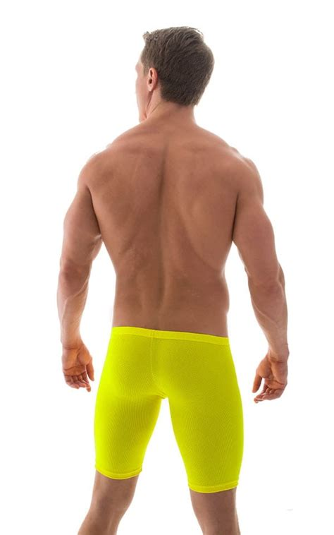 Extreme Lycra Jammer Shorts in Screaming Yellow Powernet
