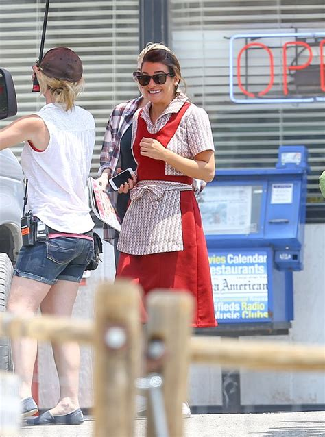 See Lea Michele As A Truck Stop Waitress On 'Sons Of