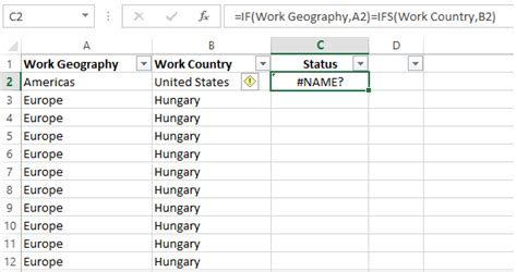 Excel Compare two columns for matches or differences in