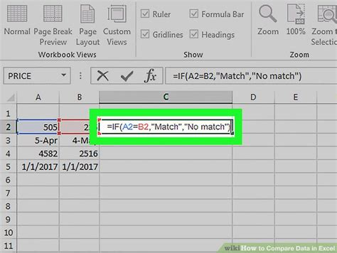 3 Ways to Compare Data in Excel - wikiHow