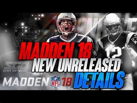 MADDEN 18 NEW UNRELEASED DETAILS! (With images) | Madden