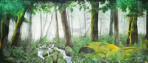 Lion King Mossy Forest-1 - Grosh Backdrop Projections