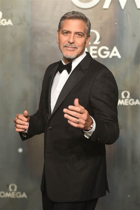 George Clooney looks sharp at OMEGA anniversary event