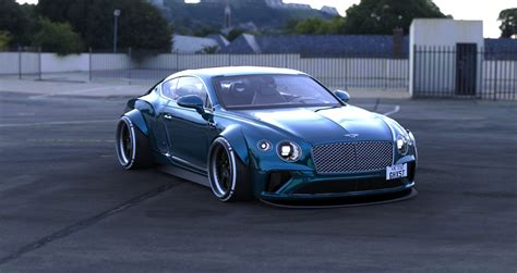 Widebody Bentley Continental GT Looks Like a Muscular