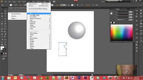 Create 3D Effects in Illustrator CS6 - Sphere and Vase