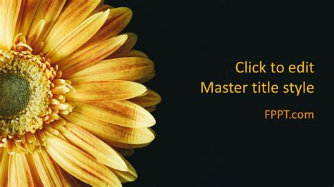 Free Flower PowerPoint Template - Free PowerPoint Templates