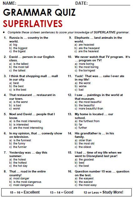 Quality ESL grammar worksheets, quizzes and games - from A